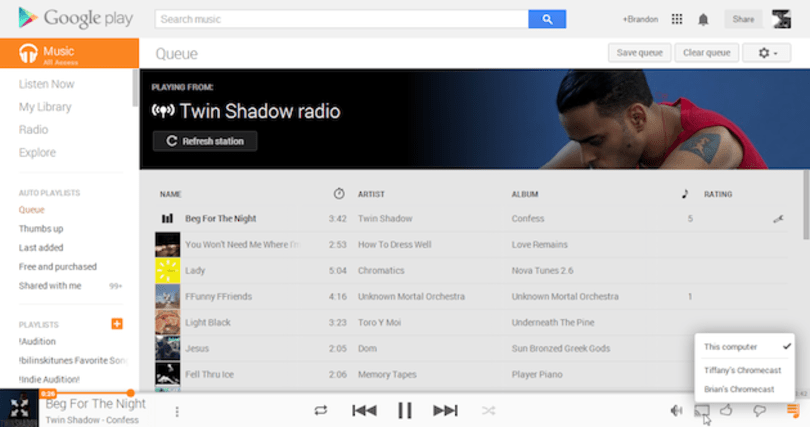 Google optimizes web versions of Play Movies and Music for Chromecast