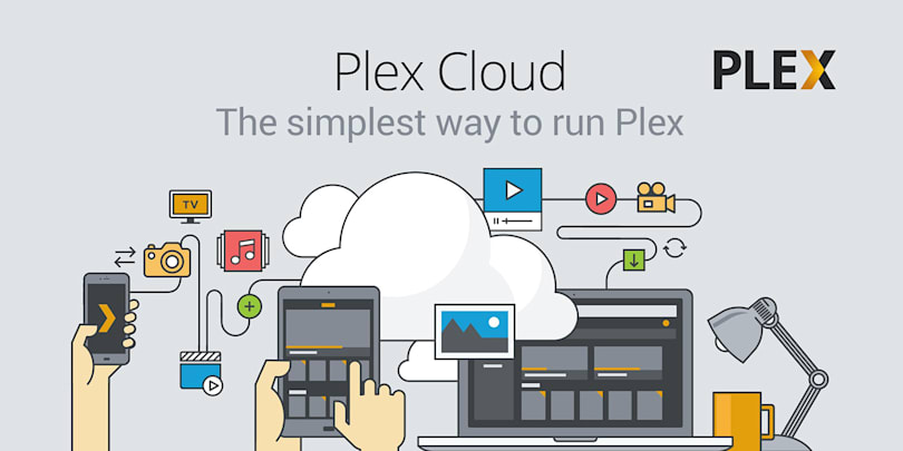 Plex can pull media from Google Drive, Dropbox and OneDrive