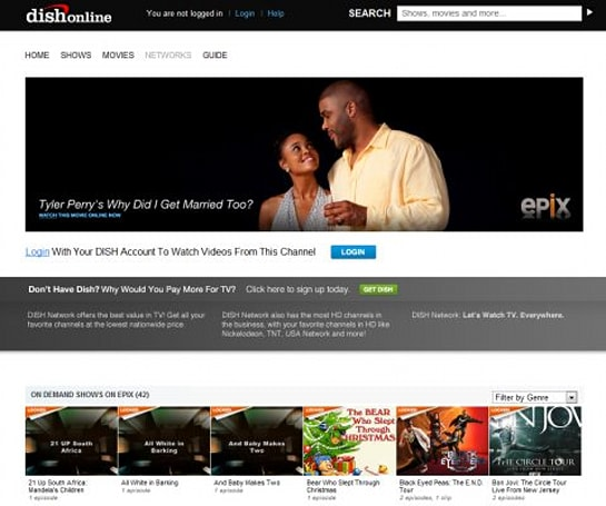 DishOnline.com adds streaming movies from Epix