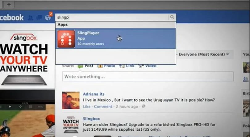 Facebook SlingPlayer revealed, proves you can't escape social networking (video)