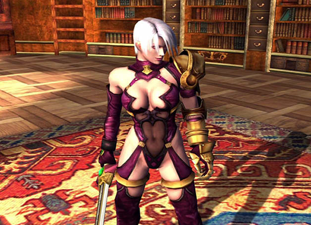 Nightmare, Ivy cross swords in latest Soul Calibur 2 HD Online footage