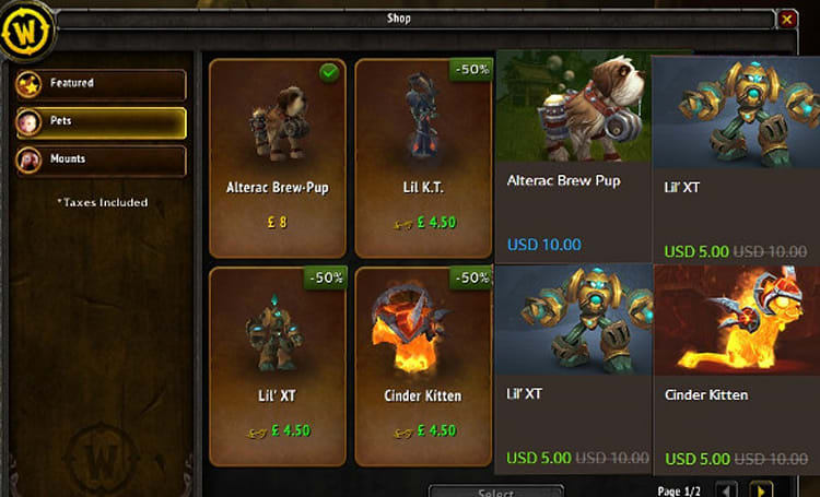 In-game store and web store inconsistent in currency for some users
