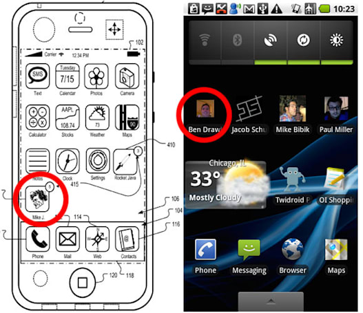 Apple tries for 'adding a contact to a home screen' patent, but Android beat them to the punch