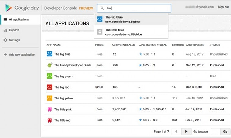 Google revamps Developer Console for Google Play, eases tracking Android app ratings over time