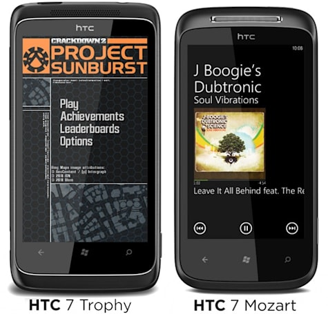 HTC 7 Mozart and 7 Trophy set out to conquer the WP7 world, 7 Pro coming to Sprint next year