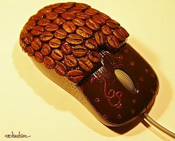 Ristretto coffee mouse brings the beans and the ugly