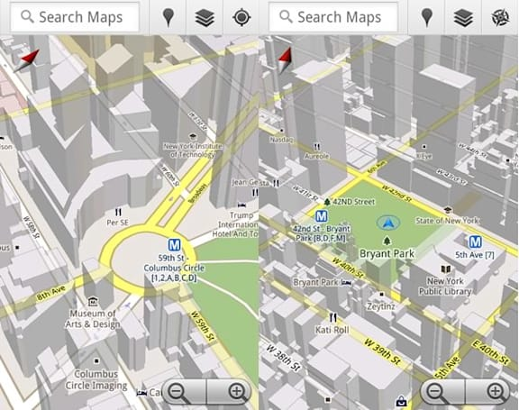 Google Maps 5.0 hits Android, includes new 3D map view and offline Navigation