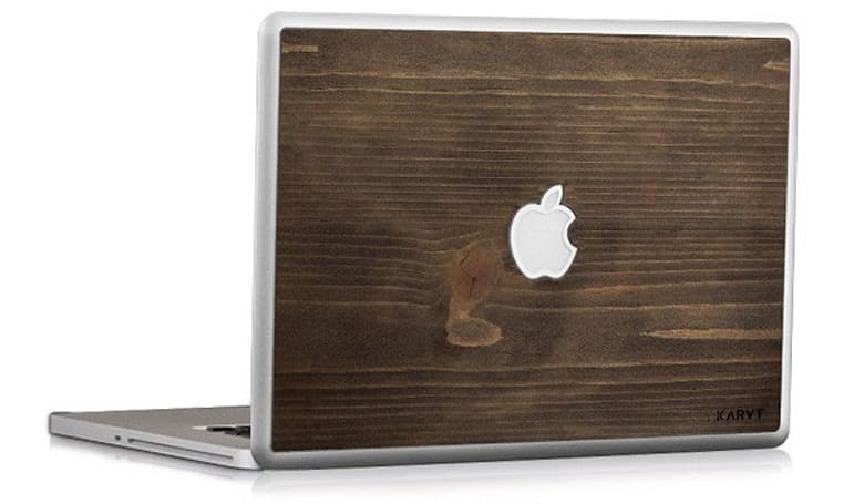 KARVT wooden MacBook skins -- because sometimes aluminum just isn't enough