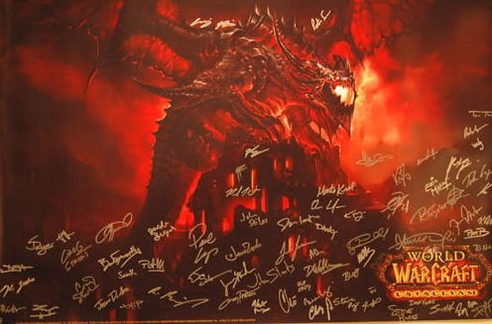Cataclysm poster signed by the devs up on eBay