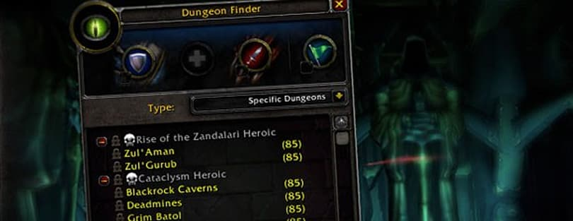 Patch 4.1 dungeon finder change places players from realms together