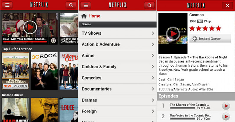 Netflix extends new user interface experience to Android phones (Update)