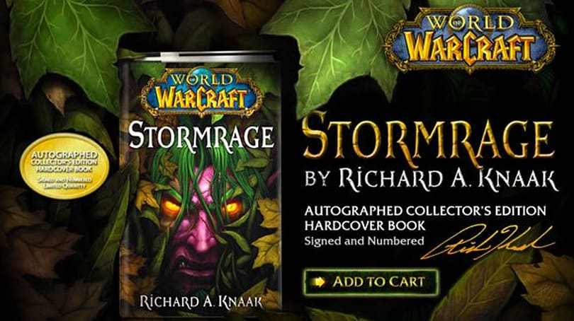 Stormrage novel collector's edition now on sale