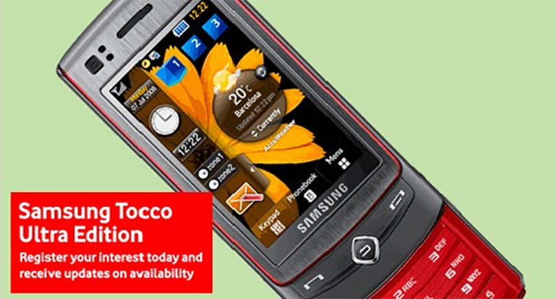 Samsung's Tocco Ultra Edition (S8300) hitting Vodafone UK in March