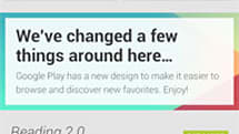 Google Play Android redesign and Babel chat branding surface on Google+