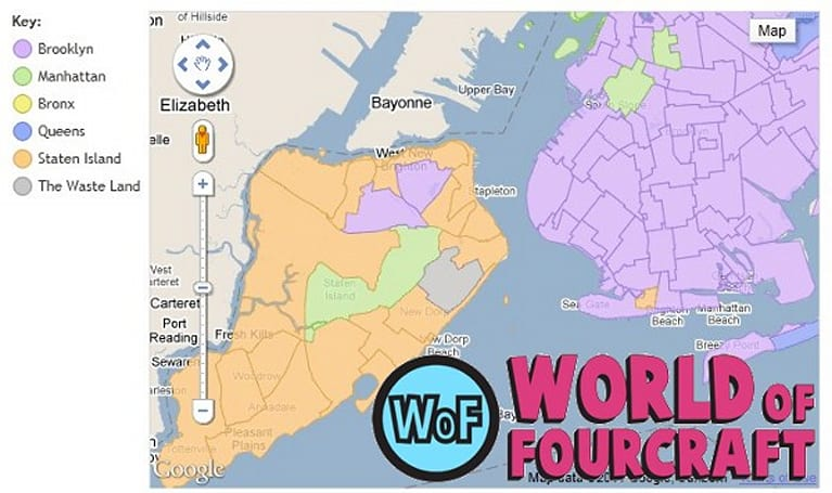 World of Fourcraft brings battle of the boroughs to Foursquare