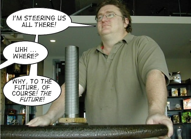 Gabe Newell presents his vison for the gaming industry at D.I.C.E.