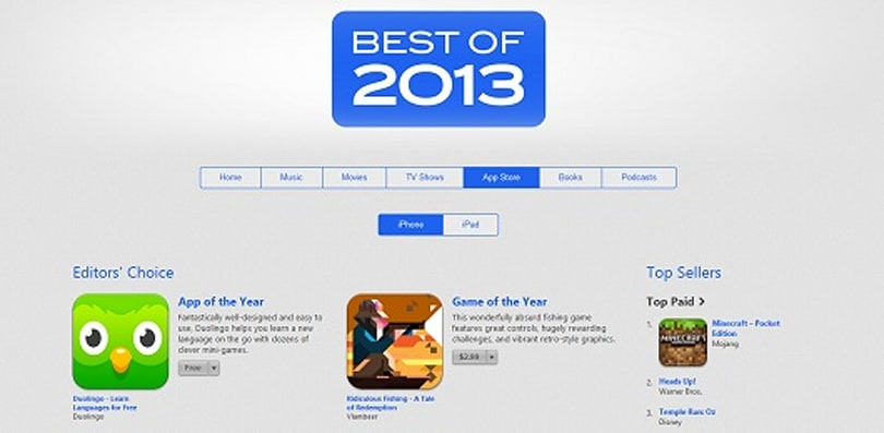 Ridiculous Fishing, Badland win App Store's Best of 2013 awards