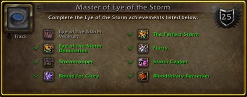 The OverAchiever: Master of Eye of the Storm