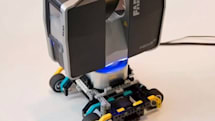 FARO Focus 3D scanner captures big 3D models from a tiny Lego trolly (video)