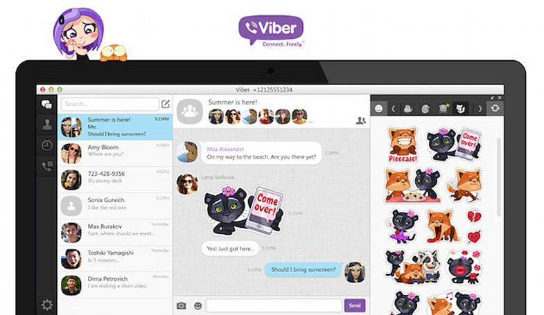 Viber's new desktop app arrives with a huge focus on stickers