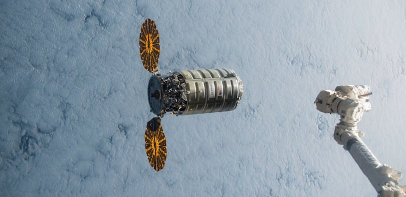 Watch Orbital's Cygnus spacecraft reach the ISS this morning