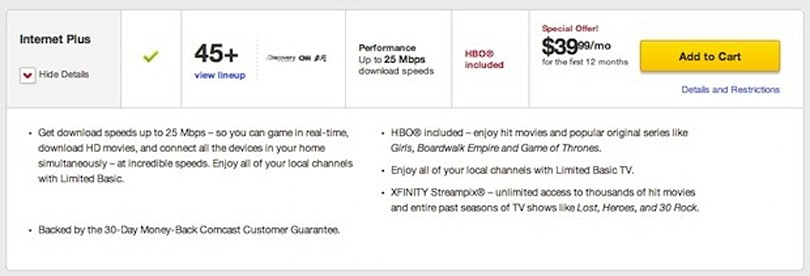 Comcast bundle ties HBO, local TV and internet together for just $40 per month, at first
