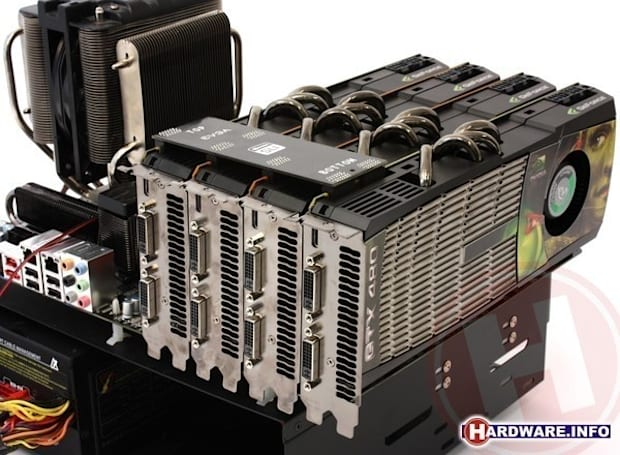 NVIDIA GeForce GTX 480 4-way SLI exemplifies law of diminishing returns