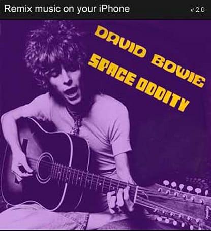 """Remix David Bowie's """"Space Oddity"""" on your iPhone"""