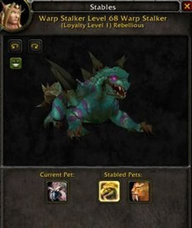 New stable slots in Wrath? Updated