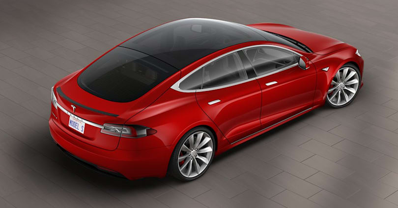 Tesla added an all-glass roof to the Model S