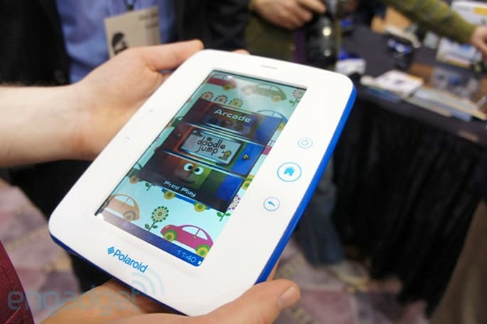 Polaroid Kids Tablet hits CES, and we drop it on the ground a couple of times (video)
