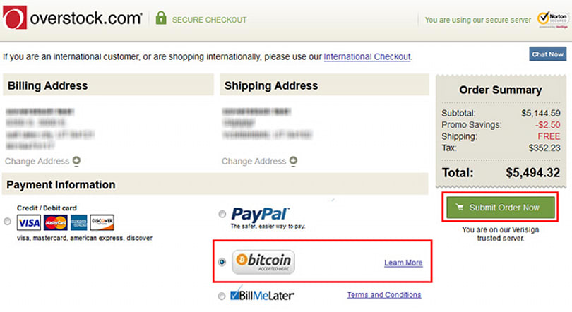 One step closer to legitimacy: Bitcoin payment live on Overstock