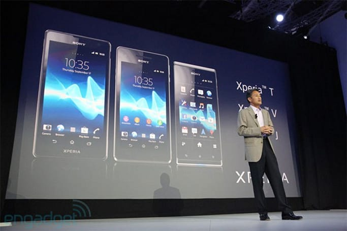 Sony announces Xperia T,V, and J smartphones at IFA