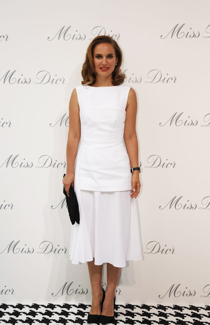Natalie Portman is one white-hot mama in Dior