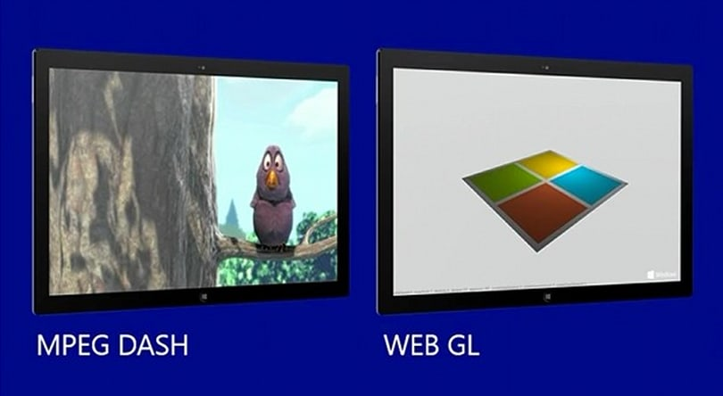 Internet Explorer 11 to support WebGL and MPEG Dash
