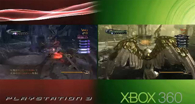 Bayonetta's PS3 and 360 iterations compared on video