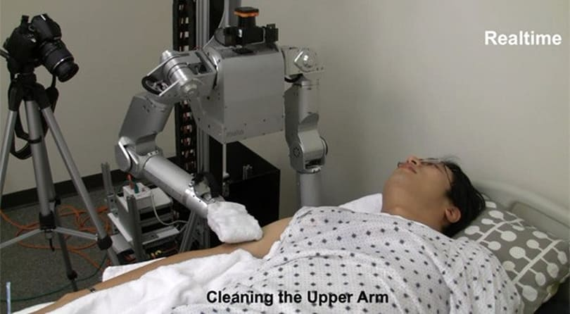 Robo-nurse gives gentle bed baths, keeps its laser eye on you (video)