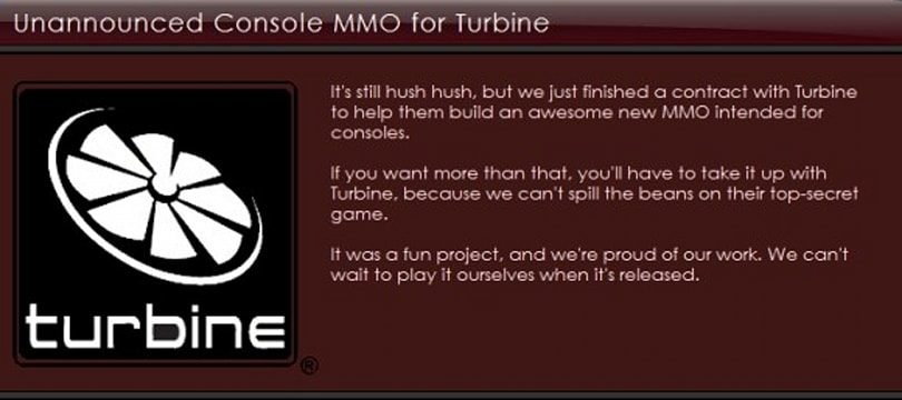 Rumor: Twisted Pixel working on Turbine's console MMO