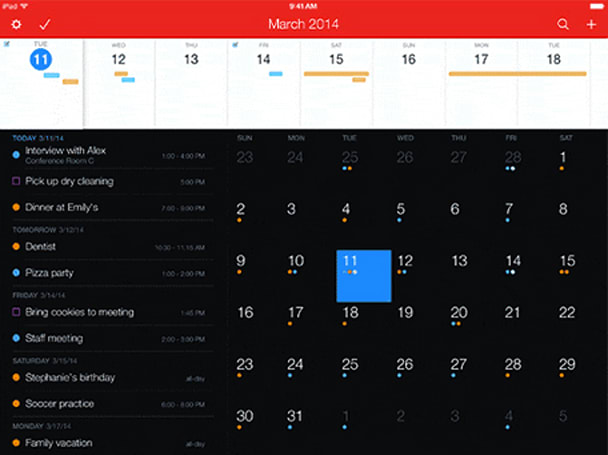 Fantastical shines on the iPad's display