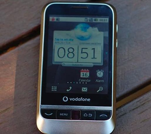Vodafone launches its first, underwhelming Android handset (video)