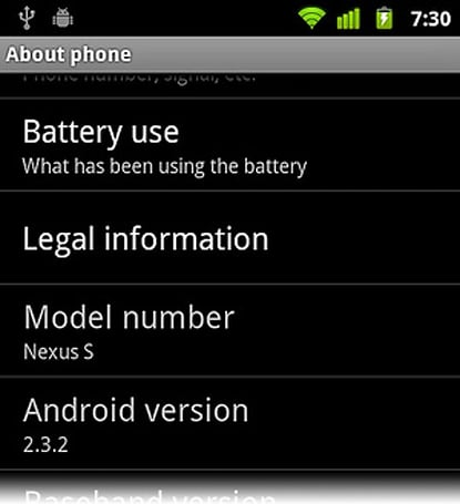 Nexus S OTA 2.3.2 update rolling out now, your SMS relations will thank you