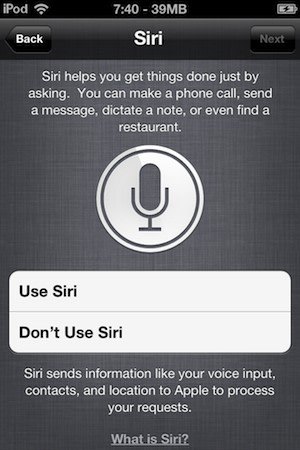 Siri shows up on an iPod Touch, no longer plays favorites ...