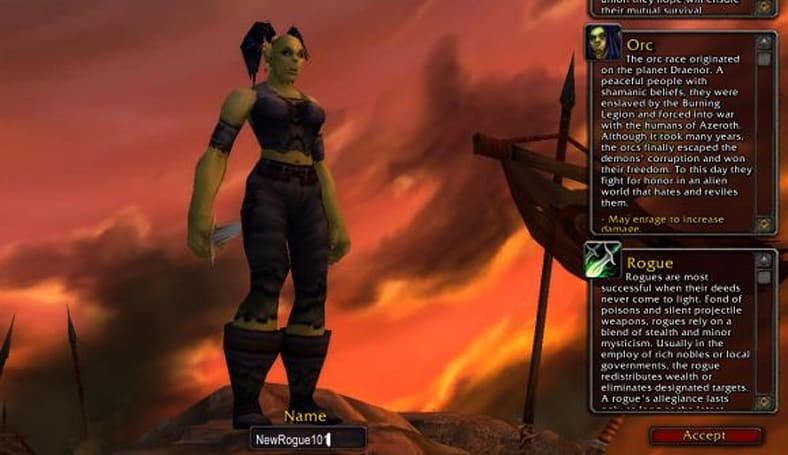 Encrypted Text: Leveling a new rogue, character creation