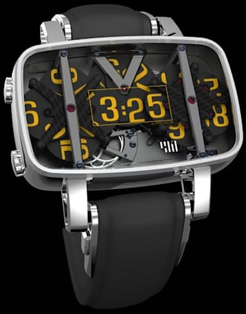 4N wristwatch delivers digital time in a mechanical fashion