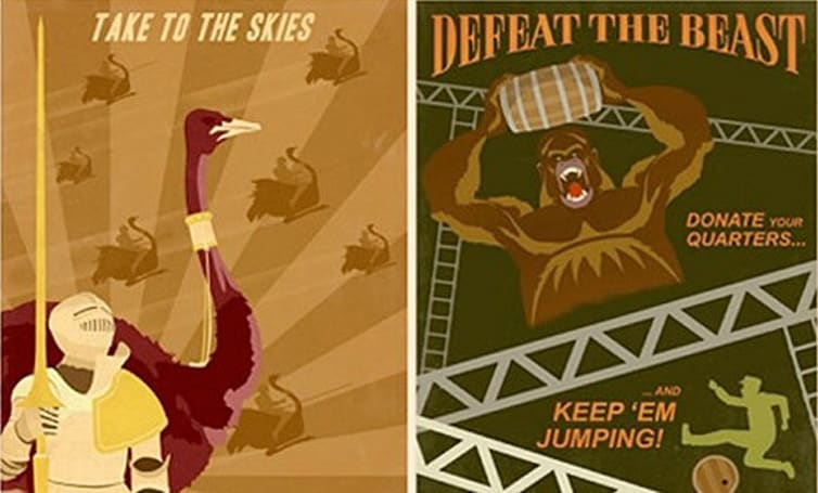 Join the cause with '80s arcade propaganda art
