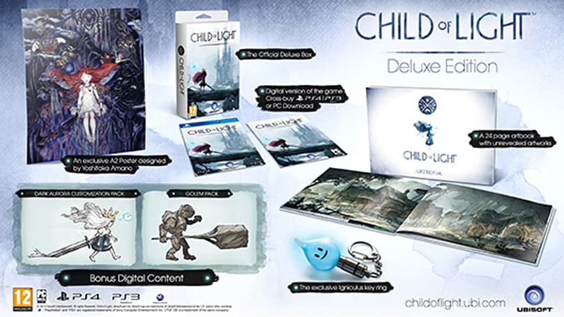Ubisoft details European exclusive Child of Light Deluxe Edition