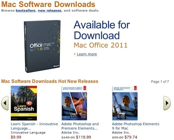Amazon launches Mac Download Store with more than 250 titles
