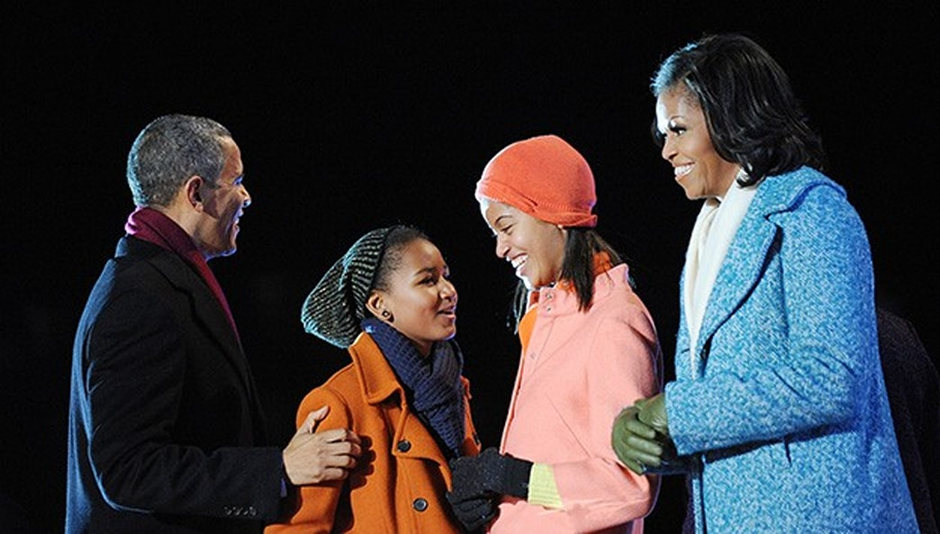 Michelle Obama Keeps Cozy in J. Crew