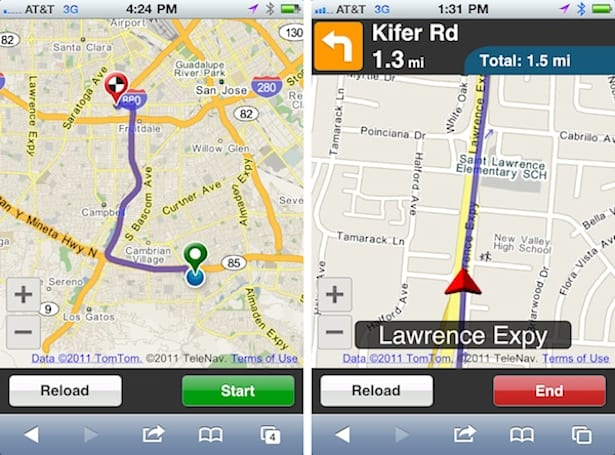 Telenav launches browser-based turn-by-turn GPS navigation using HTML 5