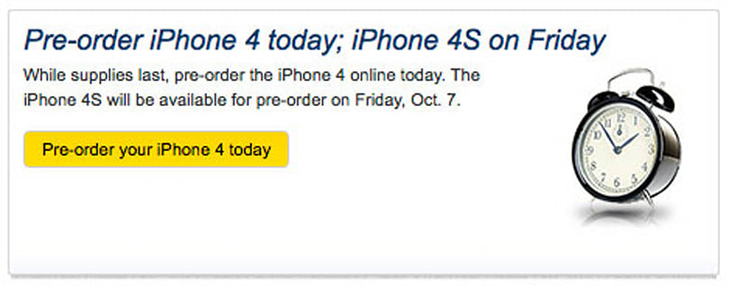 Sprint now taking pre-orders for iPhone 4, reserve your 4S on October 7